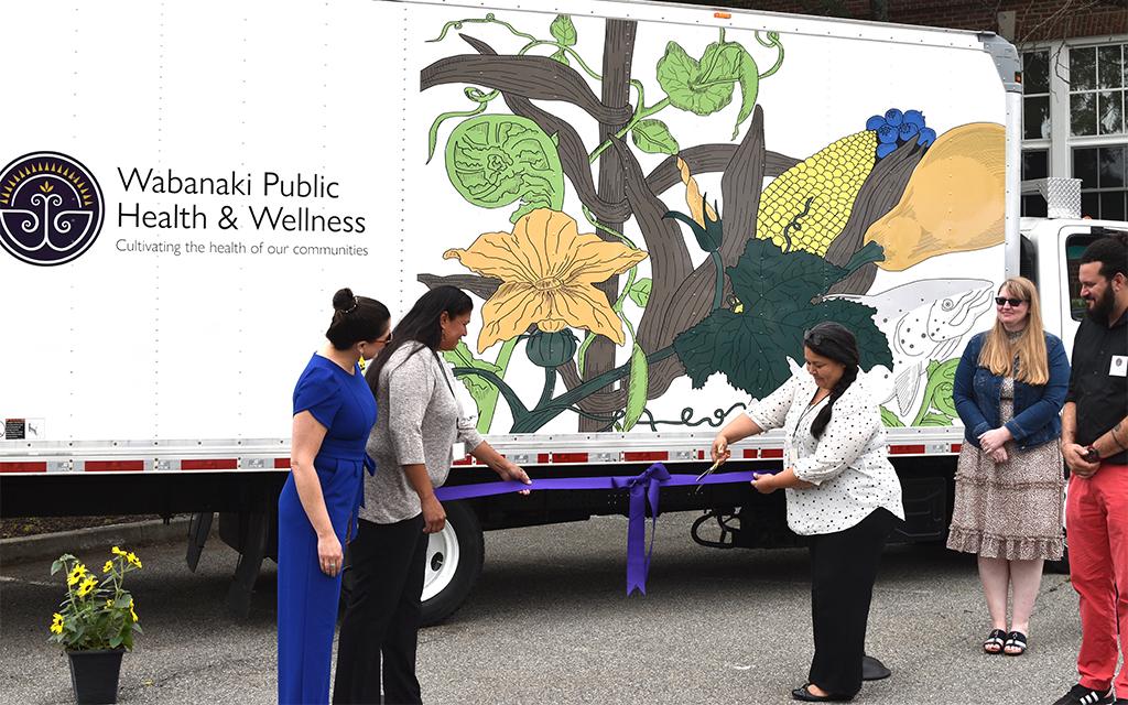 Wabanaki Public Health & Wellness unveils mobile food pantry